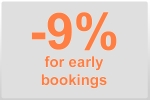 9% off for early bookings