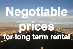 The prices for long term car rental are negotiable